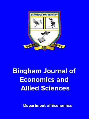 Bingham Journal of Economics and Allied Sciences